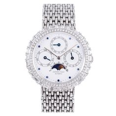 Audemars Piguet White Gold and Diamond Perpetual Calendar Wristwatch