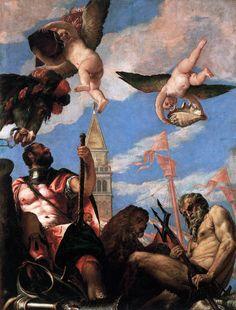 Marte e Nettuno Paolo Veronese 1575-1578 Sala del Collegio