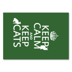 Keep Calm and Keep Cats (in any color) Business Card