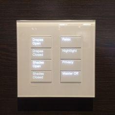 #Lutron #keypads #designmeetstech