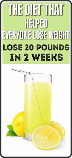 I am sharing this diet with you that may help lose 20 pounds in 2 weeks. The diet is purely based on drinking lemon water every day for 2 weeks. At the end of the two weeks you are expected to lose up to 20 pounds.