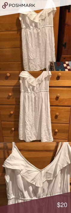 Torrid Halter Dress White knee length halter dress only worn once Torrid Dresses