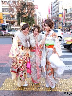 """From the website: """"January 9th, was Coming of Age Day in Tokyo. Called """"Seijin no Hi"""" in Japanese, Coming of Age Day is a time for families and friends to celebrate the transition from childhood to adulthood of young Japanese men and women who have reached their 20th birthday within the last year. Coming of Age Day starts with """"official"""" ceremonies at local government offices all over Japan. After that, many 20-year-olds visit a shrine with their families. The day usually ends in a more…"""