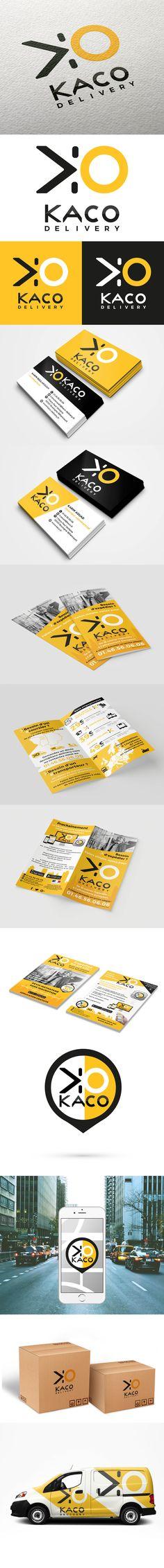 Identité visuelle KACO DELIVERY par Sofia Doudine Graphiste et Webdesigner B2B Freelance www.sofiadoudine.com