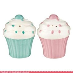 Cupcake salt and pepper shakers to match my cupcake themed kitchen