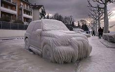 28 фото, как зима превращает автомобили в произведения искусства
