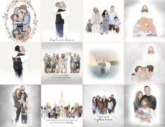 Custom Artwork. 5 - 8 PEOPLE (Christ and babies in arms are free - so please do not count them) Christ With Families, Remembrance, Funeral Funeral Gifts, Family Drawing, Remembrance Gifts, Custom Art, Families, Count, Christ, Photo Wall, Arms