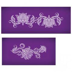 Henna Band Elements Mesh Stencil Set