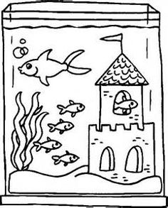 Coloring Pages Fish Tank Page