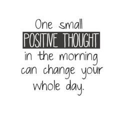 Speak positivity in to yourself every morning. It'll set your day off to the right start. #motivation #quotes