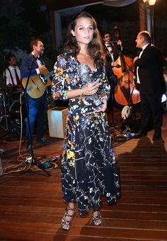Alicia Vikander wearing Preen to the 2015 Ischia Global Film & Music festival in Italy