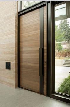 Door Design 52 In 2019 Door Modern Front Door Exterior Doors Modern Entrance Door, Modern Front Door, House Entrance, Modern Entry, Front Entry, Modern Exterior Doors, Front Door Entrance, Modern Patio, Grand Entrance