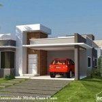 Fotos de Fachadas de Casas Modernas de Una Planta para Descargar #casasminimalistasdeunaplanta #casasmodernasdeunaplanta