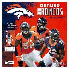 Denver Broncos 2017 Calendar, Multicolor