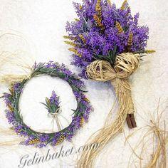 Gelin & Buket   Gelin Çiçeği   Düğün Atölyeleri Wedding Bouquets, Wedding Dresses, Weeding, Purple Wedding, Flower Crown, Silk Flowers, Grapevine Wreath, Grape Vines, Wreaths