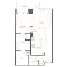 PONCEAU 1 Bed   bath   860 sq ft Starting at $2,850/mo