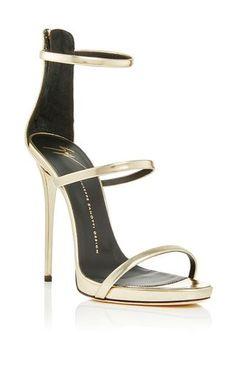 Shooting platinum three strap sandals by GIUSEPPE ZANOTTI