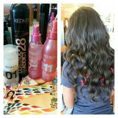 Some valentine's day waves for Ms.Rushi. Tamed those tight curls to give a bice beachy wave look. I used Redken pillow proof primer with outshine for the blowdry. Then back in and used iron shape for the spiral curls. Finished off with Control Addict hair spray ♡ hope you have a wonderful V-Day hun snd cant wait to see you again. Come see Gemma at the Secret garden salon isn't Parkland Florida for some awesome hair! #redken #redkenobsessed #blowdry #curls #curlyhair #parkland…