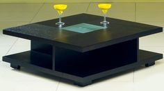 "AtHome C5263 Coffee Table  - Square coffee table. Glass top black coffee table. Dimensions: 39.5"" x 39.5"" x 14.5""."