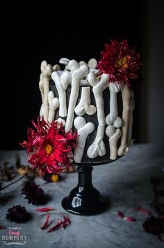 meringue bone halloween cake
