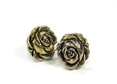 Metallic Rose Earrings / Stud Earrings