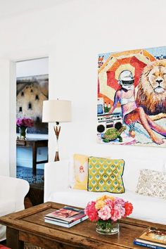 5 of the Most Stunningly Colorful Living Rooms via @domainehome