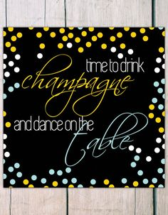 New Years Eve Invitation - Champagne. Check it out!