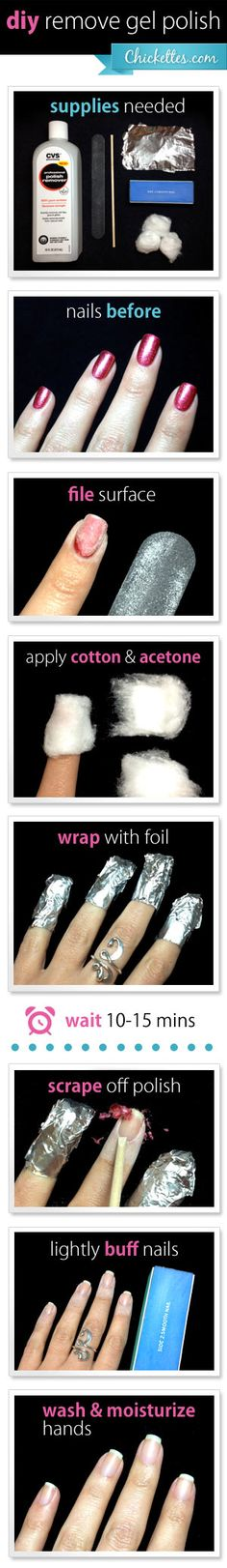 #diy remove Gel Polish from home