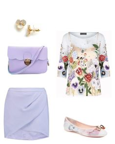 """""""Без названия #3026"""" by xeniasaintp ❤ liked on Polyvore featuring Jenny Packham, Michelle Mason, Ted Baker and Kate Spade"""
