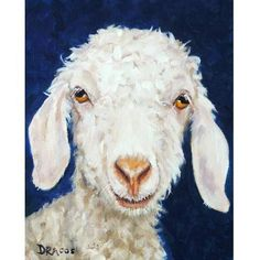 Angora Goat Art Farm Animal Art 8x10 or 11x14 by DottieDracos, $12.00