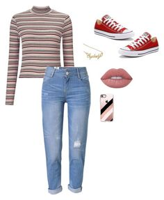 """Untitled #45"" by missingyoucth ❤ liked on Polyvore featuring Miss Selfridge, WithChic, Lime Crime, Converse and Casetify"