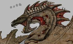 skeletal rock #dragon
