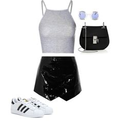 Untitled #330 by vblover4lf on Polyvore featuring moda, Glamorous, Mason by Michelle Mason, adidas, Chloé and Chanel
