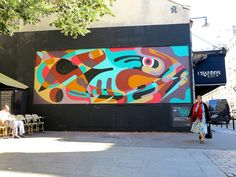 """After Switzerland and Italy our good friend Reka One wrapped up his Euro summer tour 2015 with a new piece in Paris. Putting his name on the list of participants of the legendary Le Mur project, the Australian-born artist recently revealed """"Give a Man a Fish""""."""