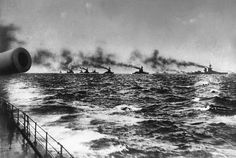 British Grand Fleet sailing from Scapa Flow for the Battle of Jutland on 31st May 1916