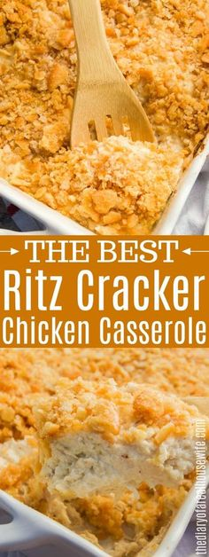 This Ritz Cracker Chicken Casserole has become a family favorite and one recipe that we will be having again and again. #casserole #chicken #dinner Ritz Cracker Chicken Casserole, Easy Chicken Casserole, Chicken With Ritz Crackers, Recipes With Ritz Crackers, Chicken With Cream Cheese, Casseroles With Chicken, Meals With Chicken, Chicken Sides, Ritz Cracker Recipes