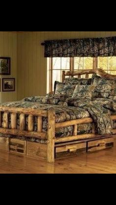 This is great for a log cabin theme you can find this at  http://www.wikihow.com/Build-a-Log-Bed