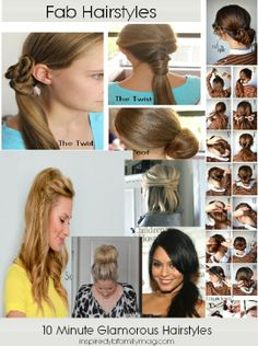 8 Minute Hairstyles Are You Tired Of That Mom Ponytail I Was And Then Went Looking For Easy Quick Some Cute Weird Lol