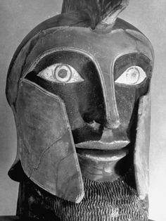 Head of an Etruscan Statue in the Collection of the Metropolitan Museum of Art
