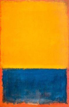 """Mark Rothko """"Yellow, Blue and Orange"""","""