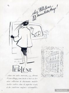 Perlène (Couture) 1947 shop window 33 Avenue Victor Hugo, Paris, Pierre Simon