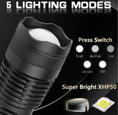 FLASHEX™ - Powerful Flashlight In The World Super Bright Flashlight, Light Flashlight, Usb, Emergency Preparedness Kit, Most Powerful, Search And Rescue, Strobing, Portable, Outdoor Activities