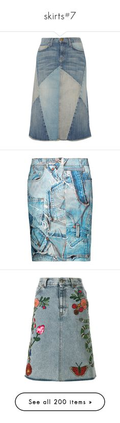 """""""skirts#7"""" by julidrops ❤ liked on Polyvore featuring skirts, mid denim, western skirts, denim skirt, cowgirl skirt, western denim skirts, blue skirt, light denim, button skirt and moschino skirt"""