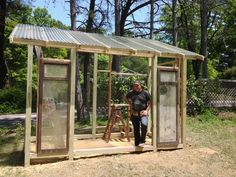 See the progress on our greenhouse made primarily of salvaged materials!