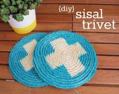 Hi Sugarplum!: {DIY} Sisal Trivets