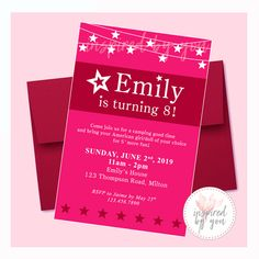 Adorable invitation for your little girls American Girl Doll Theme Birthday Party American Girl Birthday, American Girl Parties, Thank You Tags, Thank You Gifts, Girls Party Invitations, America Girl, Water Party, Personalized Invitations, Gift Tags