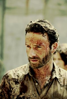 Rick.... Fearless leader against walkers