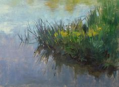 """Edge of the Lake"" (oil on panel, 12""x9""). Photo by Saunders Fine Arts"