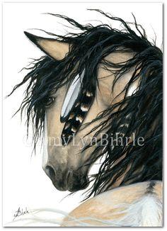 Majestueuze paarden  geest Native American Pinto door AmyLynBihrle