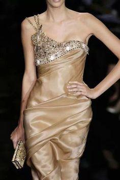 Silk dress with beading